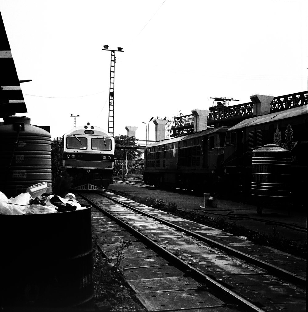 chromacomaphoto bangkok thailand film photography rolleiflex 3 5e xenotar delta 400 train shed depot service b and w (3).JPG
