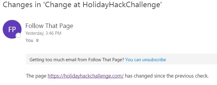 Email alert from  Followthatpage.com