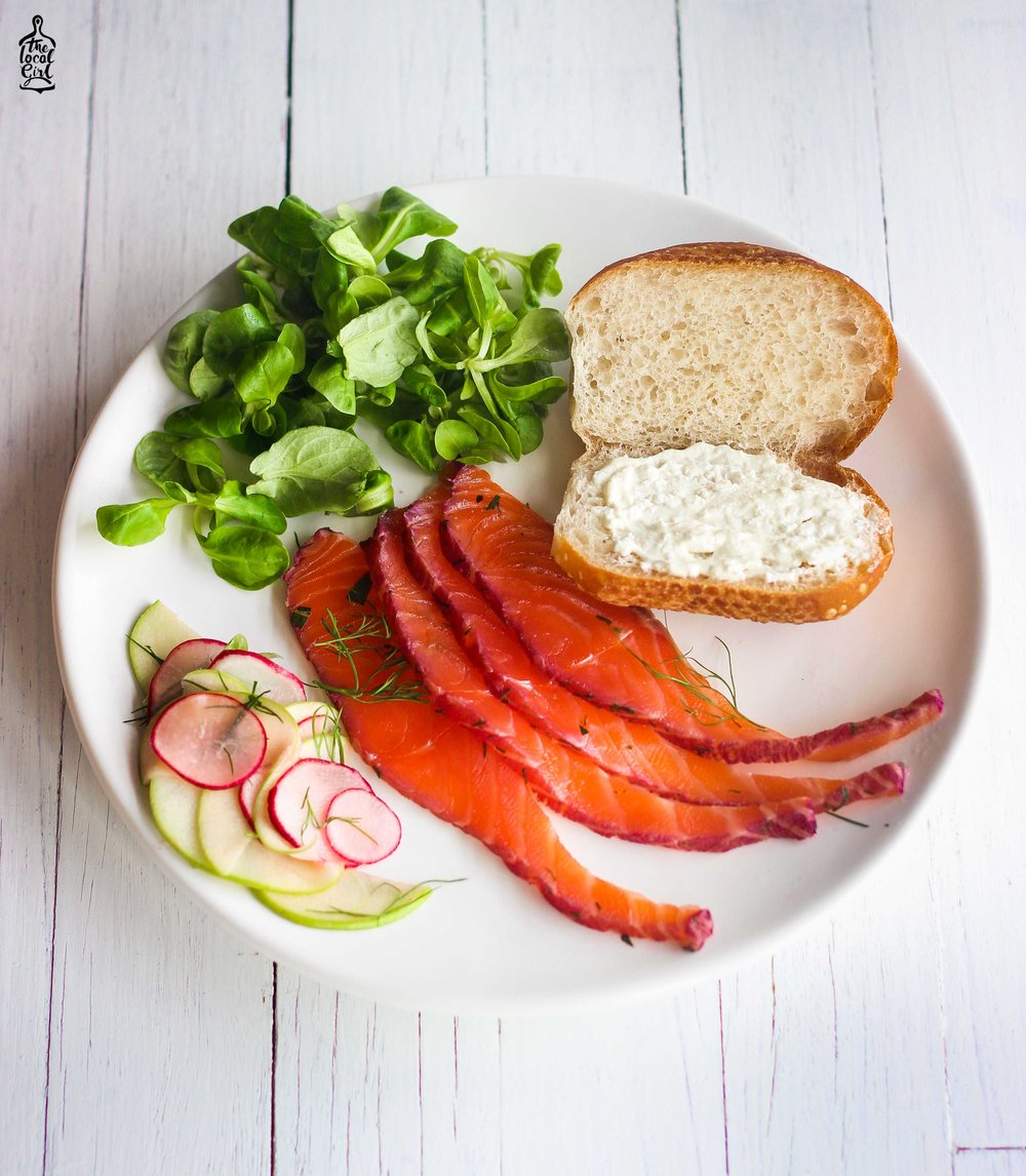 home-cured blackberry salmon