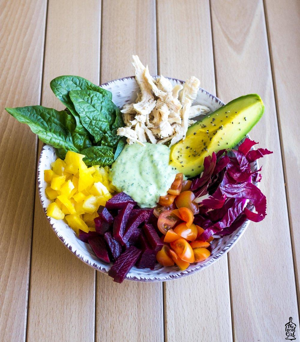 Rainbow Veg Bowl