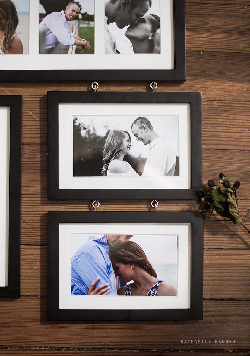 County Line Orchard framed engagement photographs