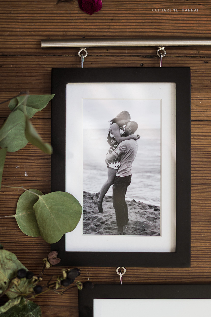 Indiana Dunes engagement session framed photograph