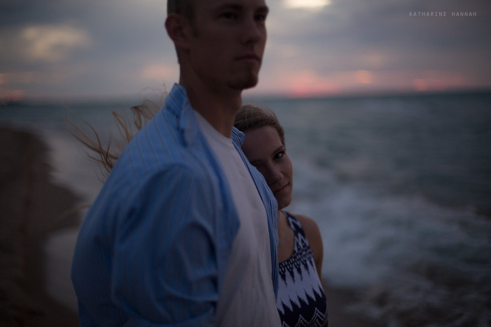 Fine art engagement session Indiana Dunes