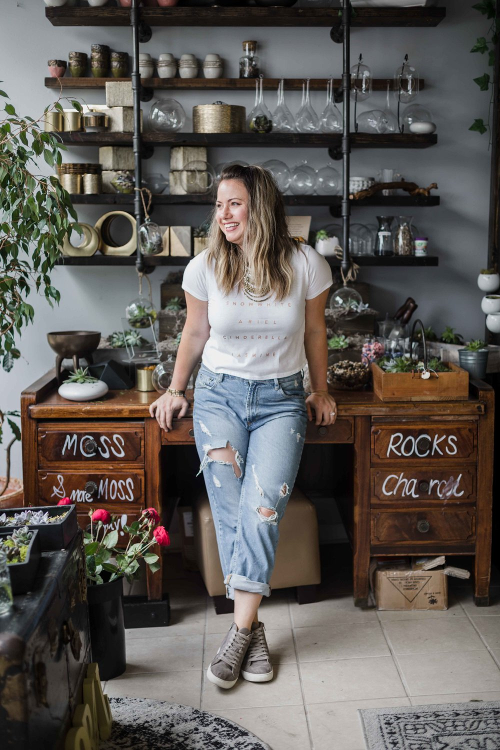Nichole Johnson of XO Design Co. in Morgan's in Bloom in West Town Chicago