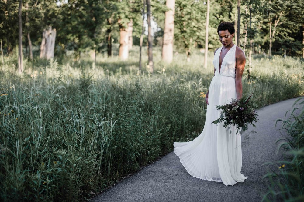 Marguerite Gardens in Chicago creates bridal bouquet
