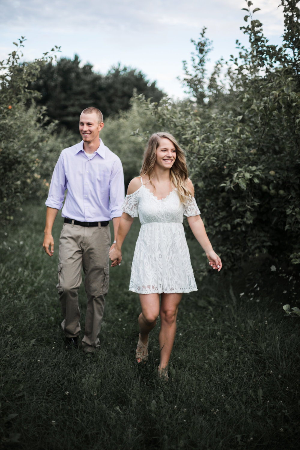 County Line Orchard engagement session by Chicago photographer