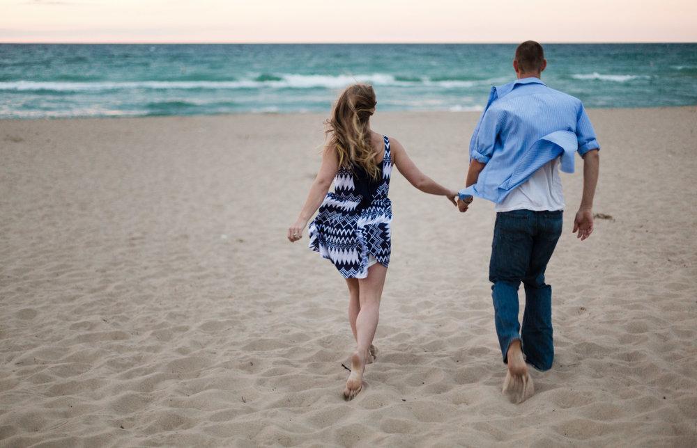 Indiana Dunes adventurous engagement pictures