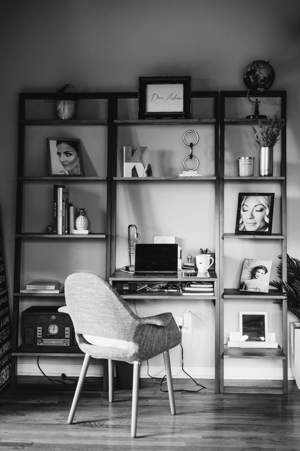 Deco Adamo home workspace in Chicago, photographed for feature series Inspired Chicago that interviews local creative women