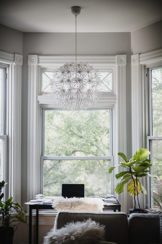 Workspace inspiration of interior designer Kira Obermeier for feature series Inspired Chicago