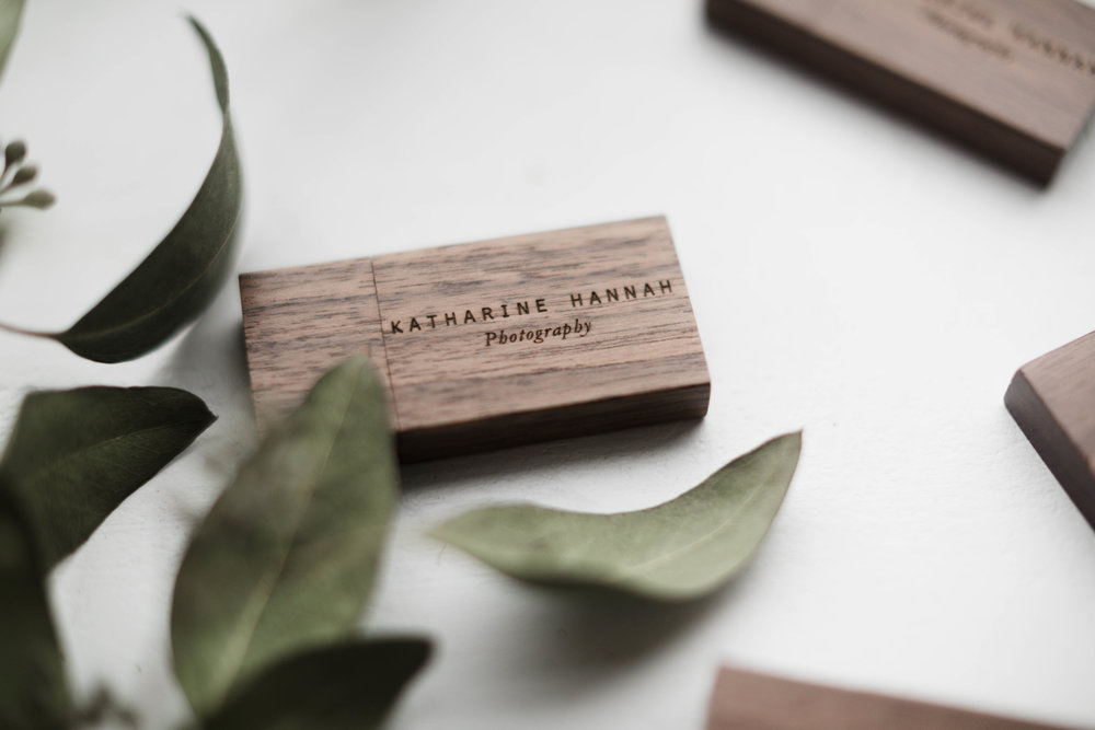 Close up of Design Aglow's custom USB drives for photographers by Katharine Hannah
