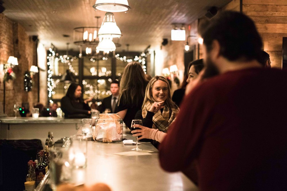 Holiday event photography at Centennial Crafted Beer & Eatery in Chicago