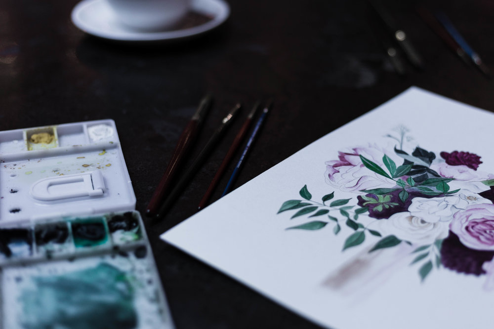 Water color artist and calligrapher interviewed for  Inspired Chicago feature series