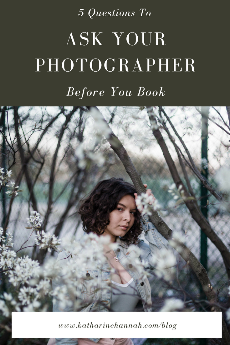 5 questions to ask your photographer before you book | Advice for perspective clients by Chicago fine art portrait photographer Katharine Hannah