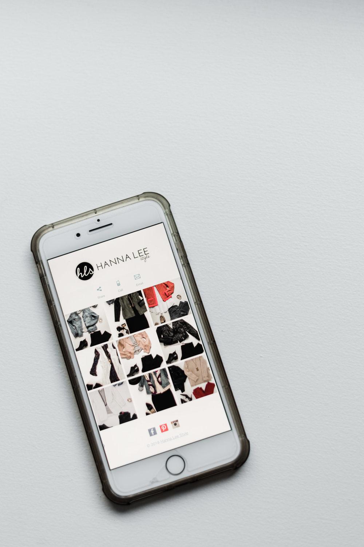 Custom phone app for Hanna Lee Style clients