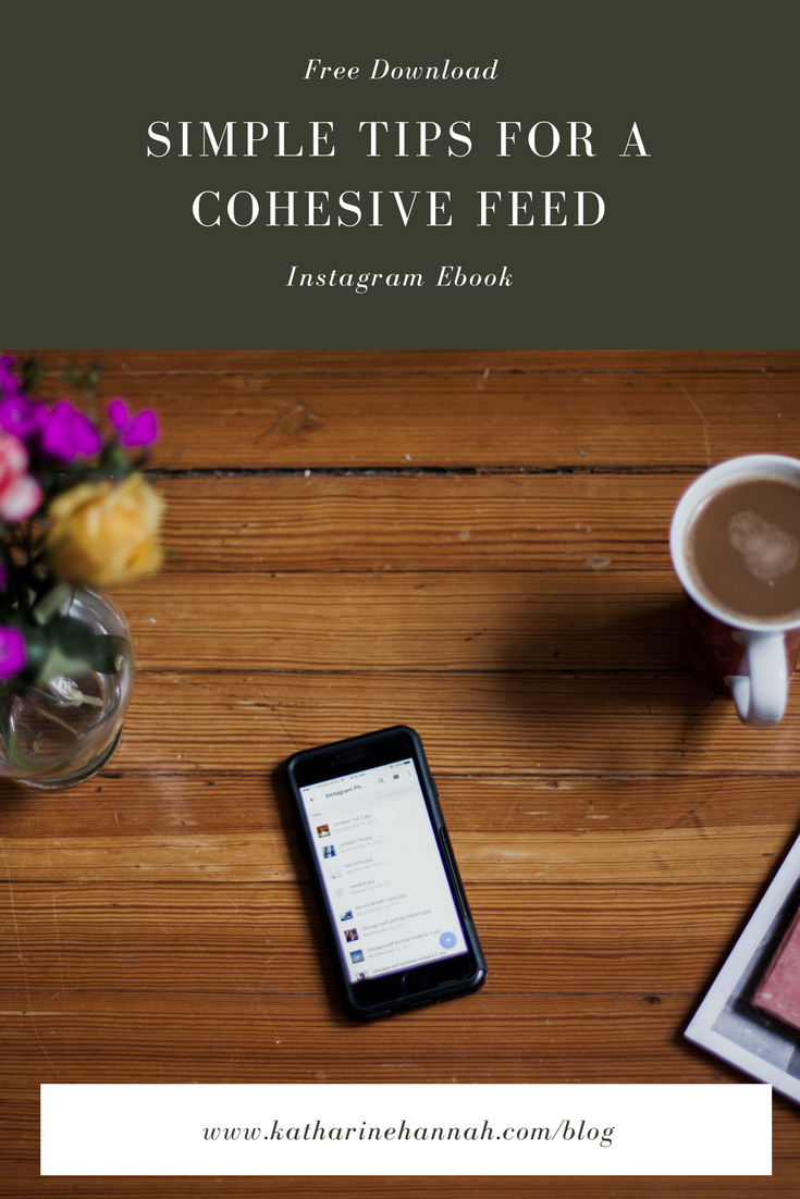 Simple tips for a cohesive feed ebook, free guide for Instagram feed cohesion