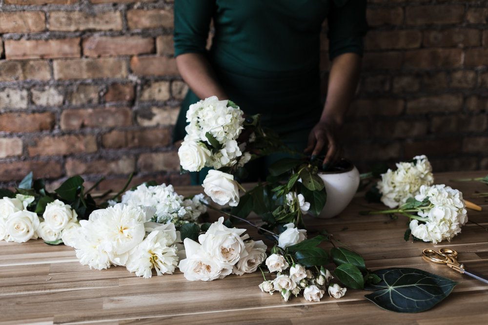 Branding photography for Chicago floral designer Brittney Kee