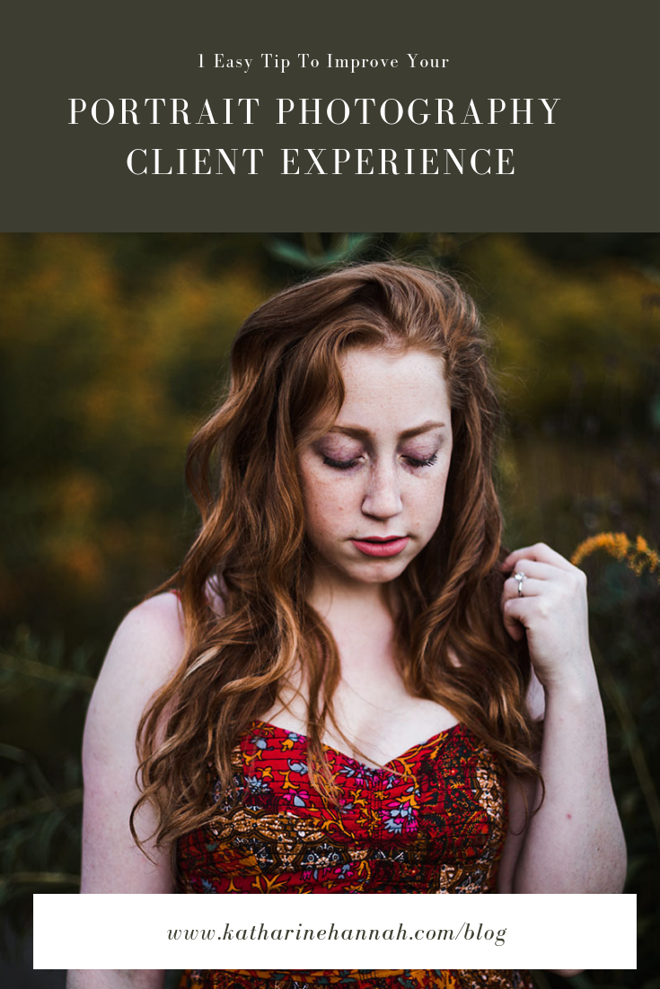 1 easy tip to improve your portrait photography client experience