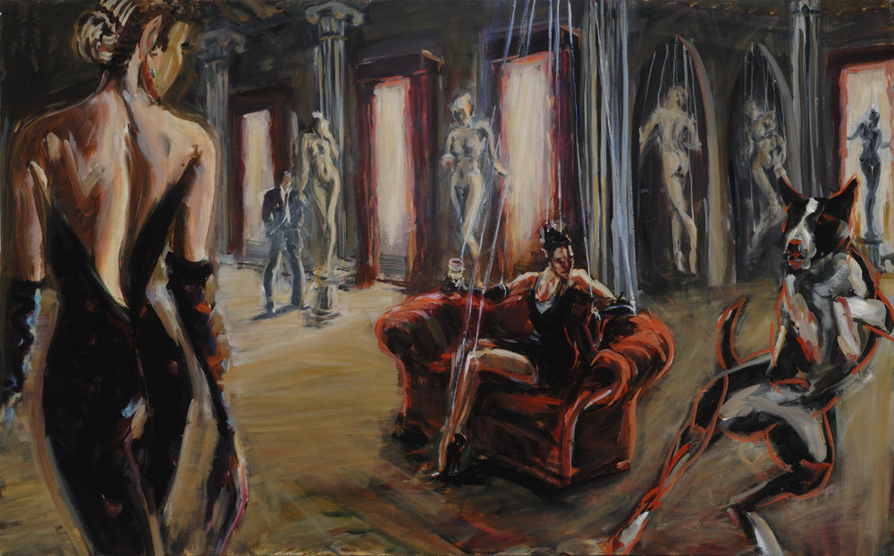 Contrapposto  30 x 48 inches, oil on canvas