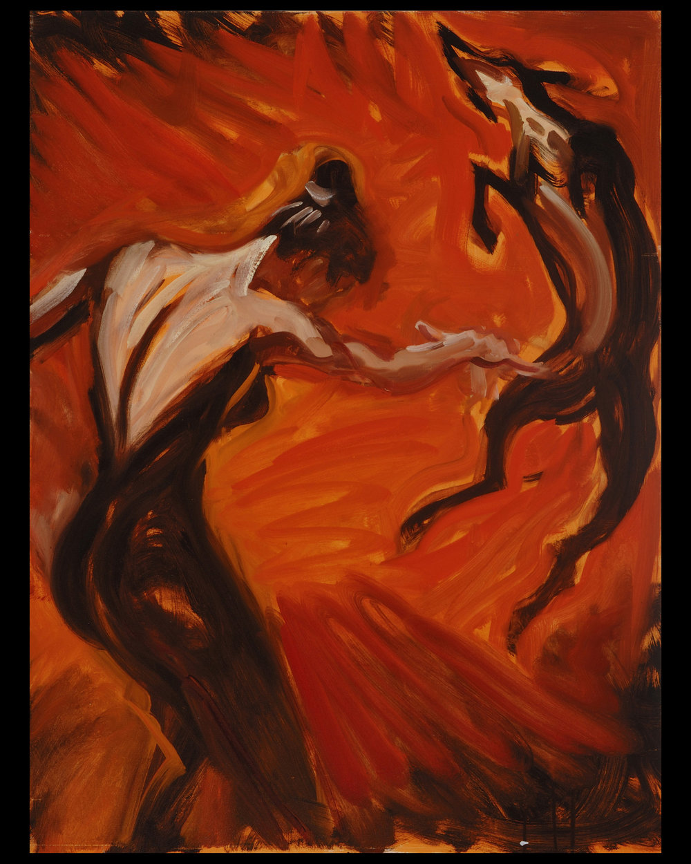 Dancing with the Dog  40 x 30 inches, oil on canvas
