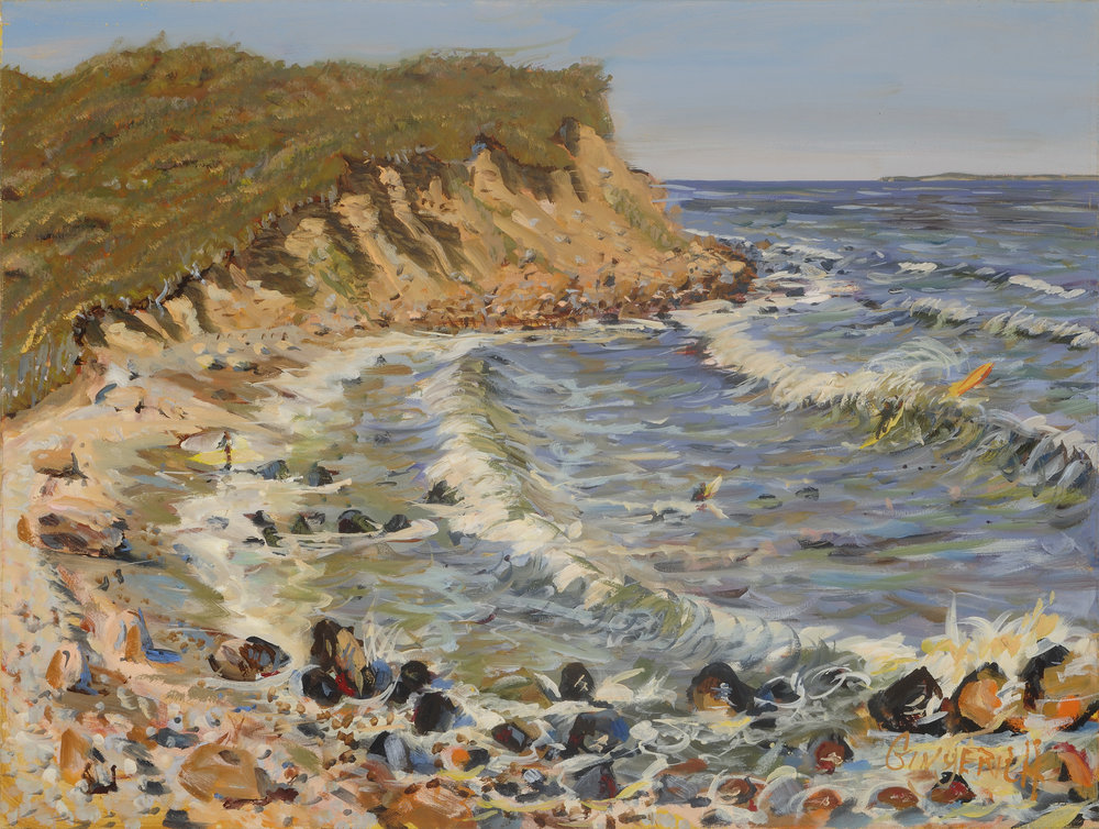 Montauk Surfers  30 x 40 inches, oil on canvas