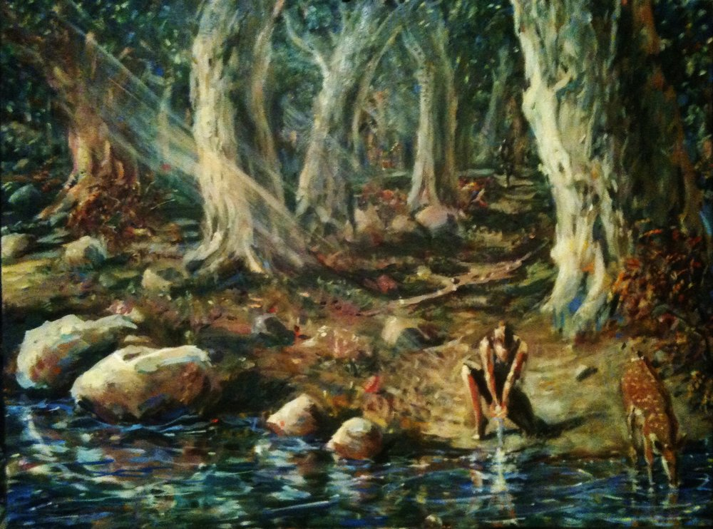 Precious Water  30 x 40 inches, oil on canvas