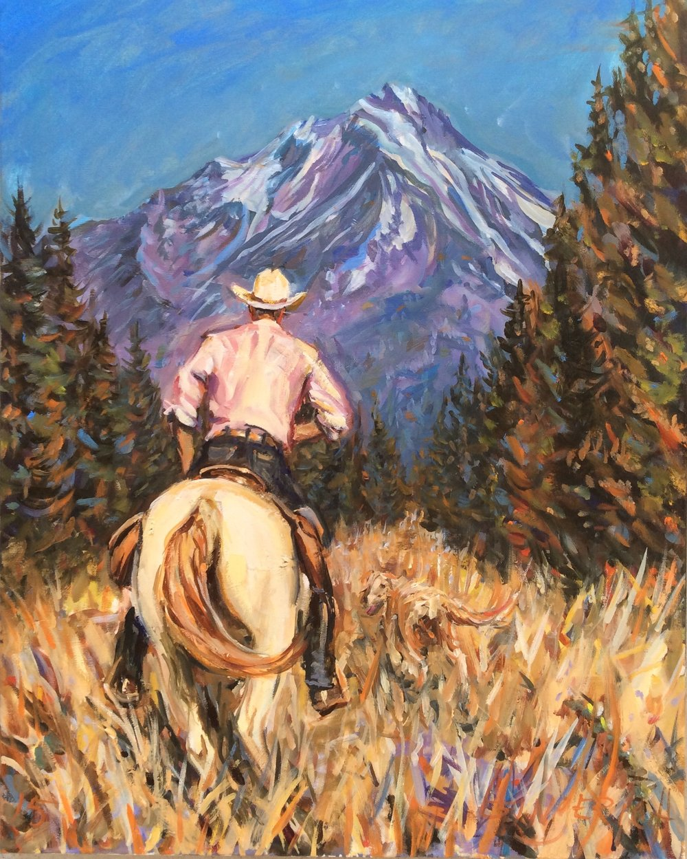 The Trail to Shasta  24 x 30 inches, oil on canvas