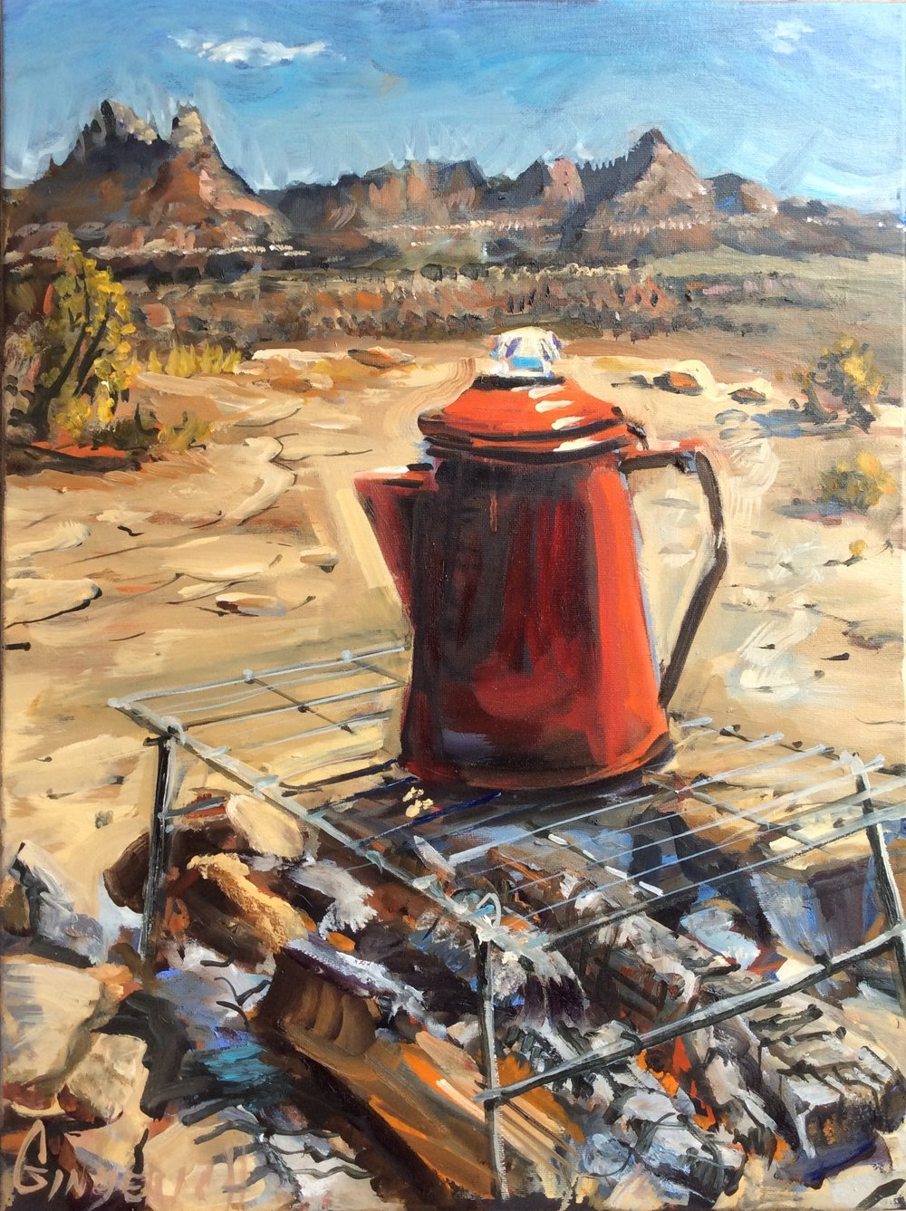 Coffee  24 x 18 inches, oil on canvas