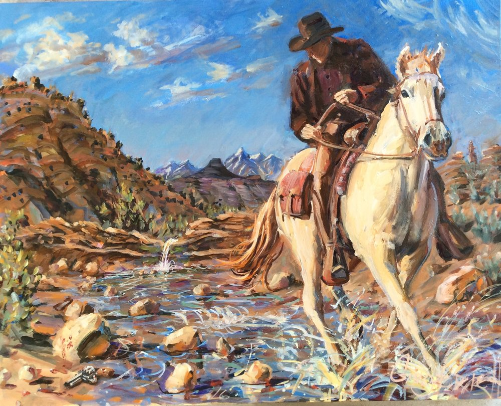 1873 Colt .45  24 x 30 inches, oil on canvas