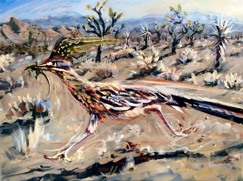Roadrunner  16 x 20 inches, oil on canvas