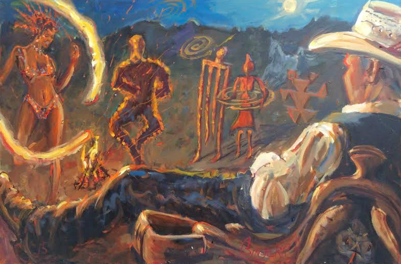 Dancing with the Pictographs  24 x 36 inches, oil on canvas