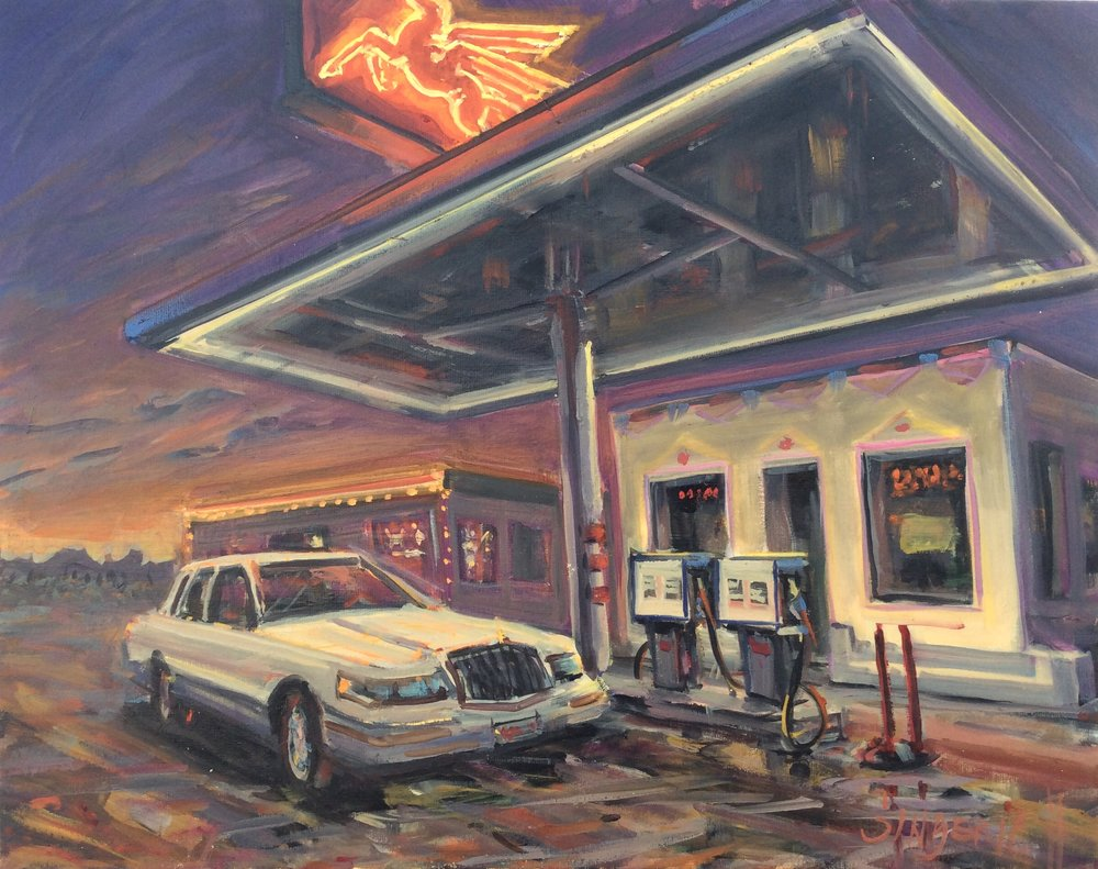 Cafe Gas  22 x 28 inches, oil on canvas