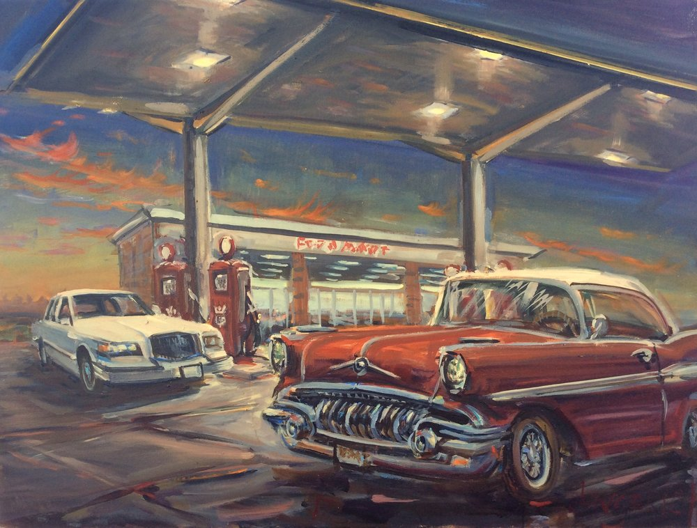 Pontiac  30 x 40 inches, oil on canvas