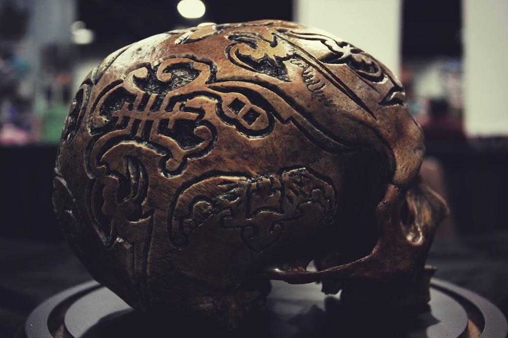 Amazing Art Carved on Real Human Skulls — FLAKOVELI