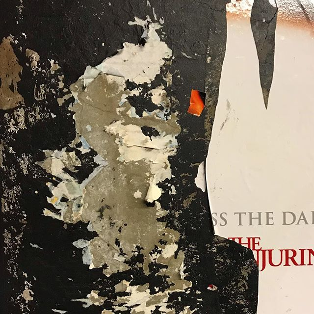 #foundabstraction #collageinspiration #decollage #layers #history #contrast