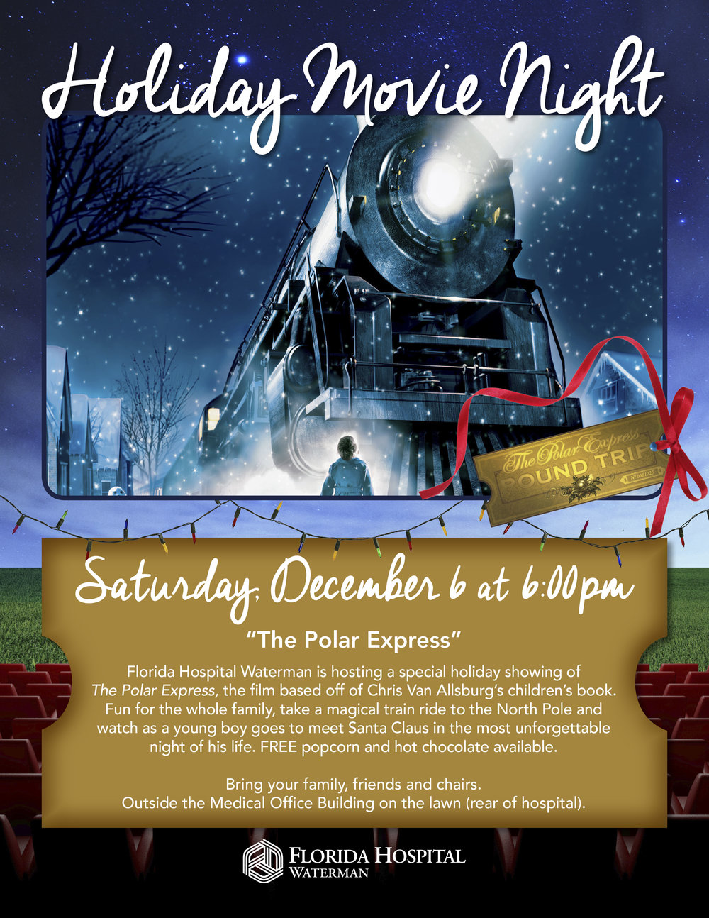 All aboard for Holiday Movie Night!