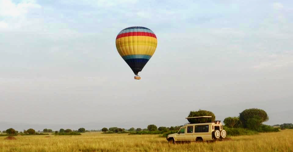 A stay in Queen Elizabeth National Park is crowned with a hot air balloon ride in the Mweya sector.
