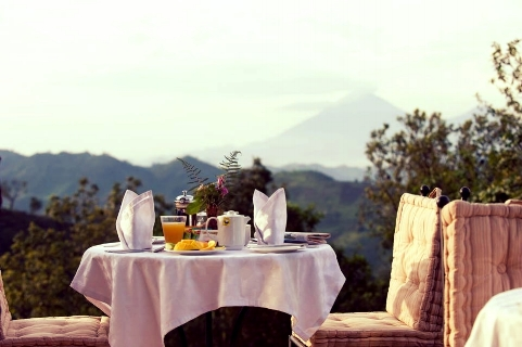 Breakfast at Clouds comes with a wide range of fruits a view like no other.