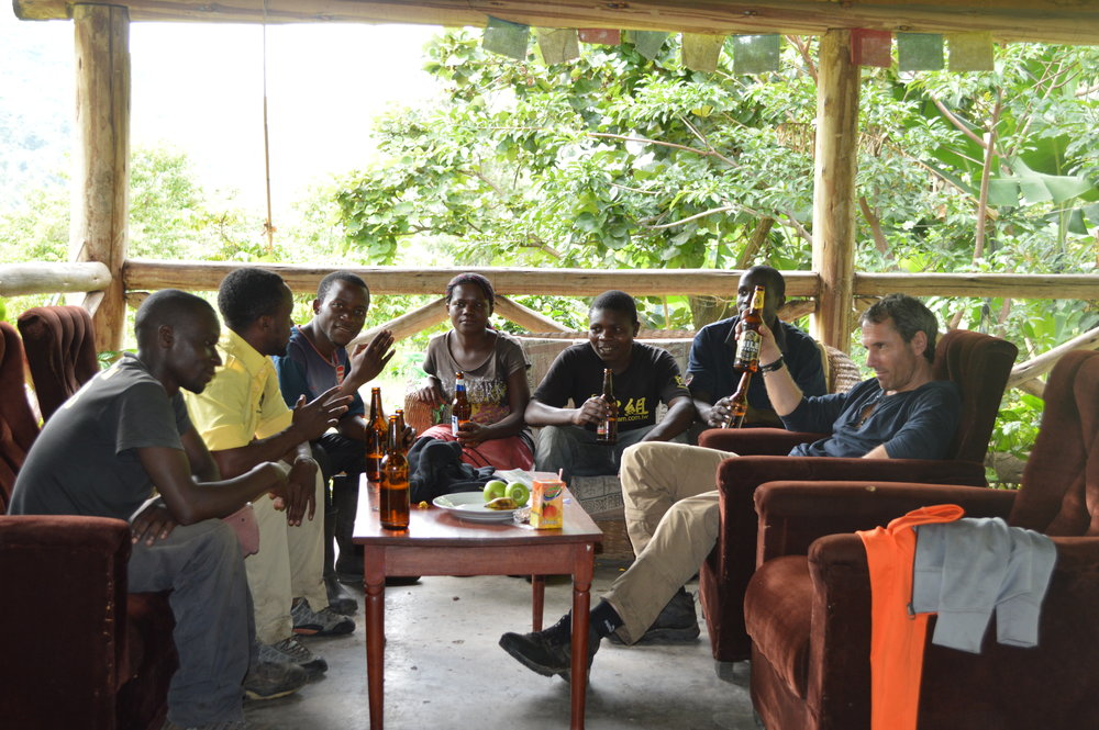 After the forest hike, stopping at the roadside pub,sitting and having one-one i mean tasting Ugandan brewed Nile special beer with your guides,rangers and porters is may be what you need.