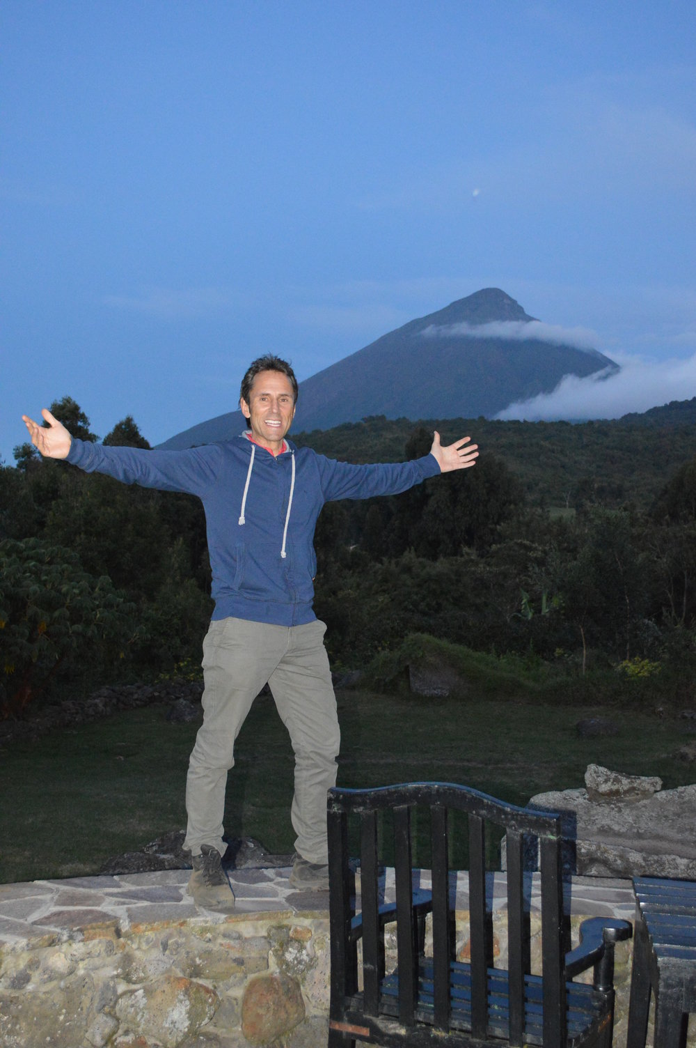 Tourist alone time in the volcanoes.