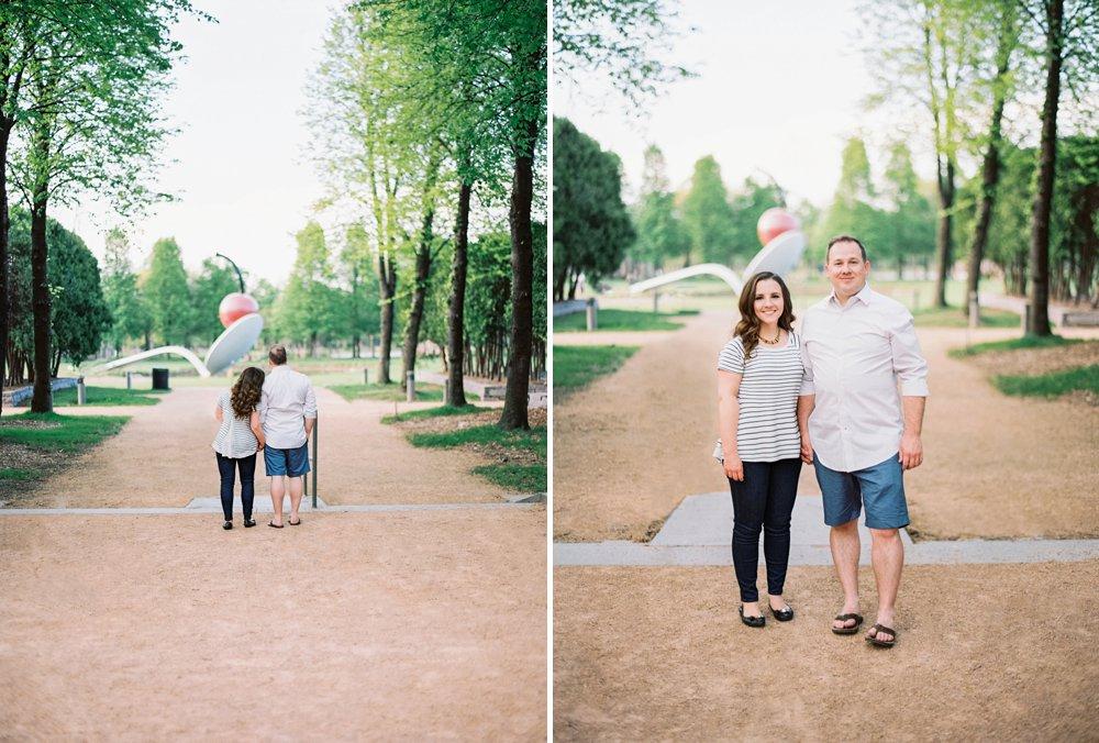 Walker Sculpture Garden engagement