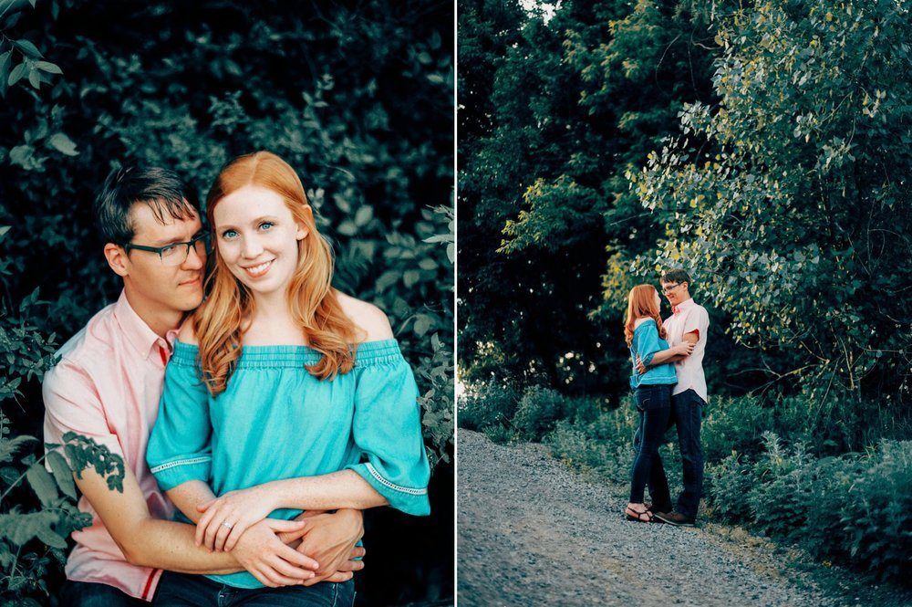 Ready for her close-up: Kyle & Kristi on the Kenilworth Trail.  Shot with a Contax 645 camera & Kodak Ektar film.