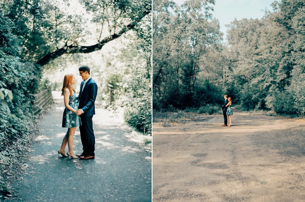 Kenilworth Trail Engagement Photos