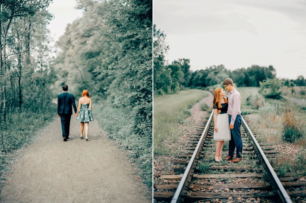Rustic MN Engagement Locations the Kenilworth Trail