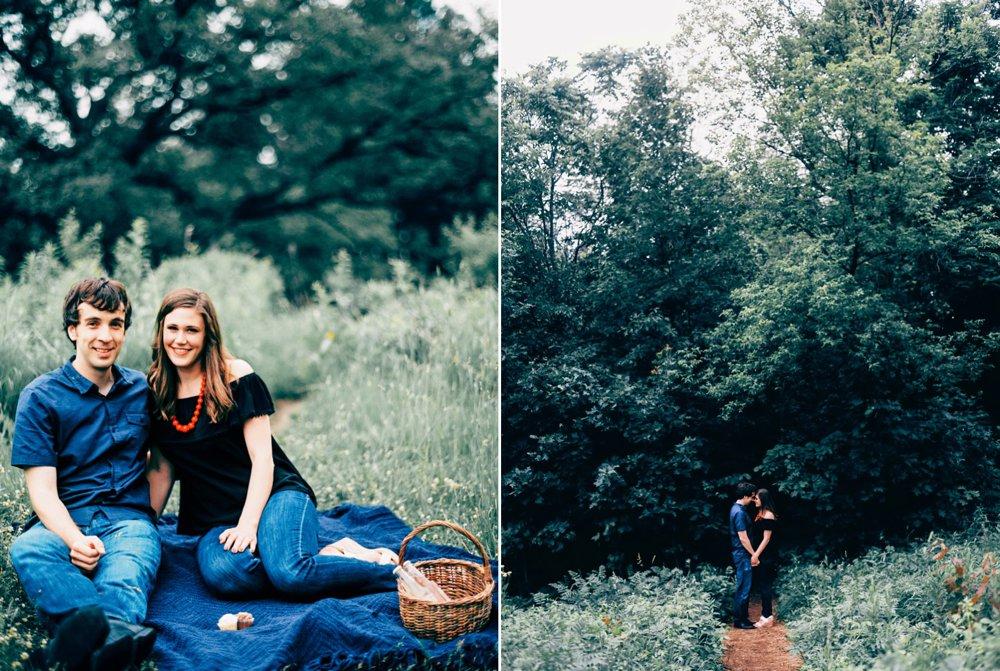 A picnic on the hilltop. Shot on Contax 645 with Kodak Ektar film.