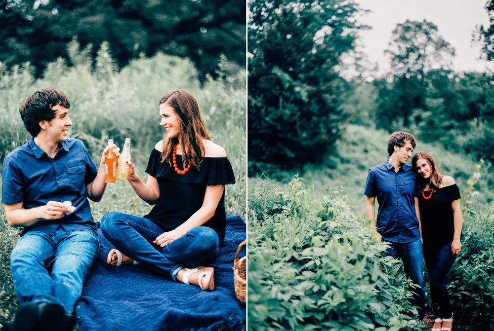 Picnic Engagement Photos