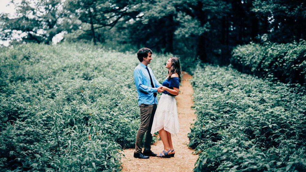 Eloise Butler Wildflower Garden Engagement
