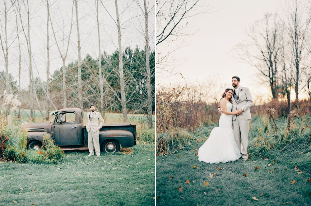 Vintage chic at the Enchanted Barn wedding venue in Hillsdale, Wisconsin.