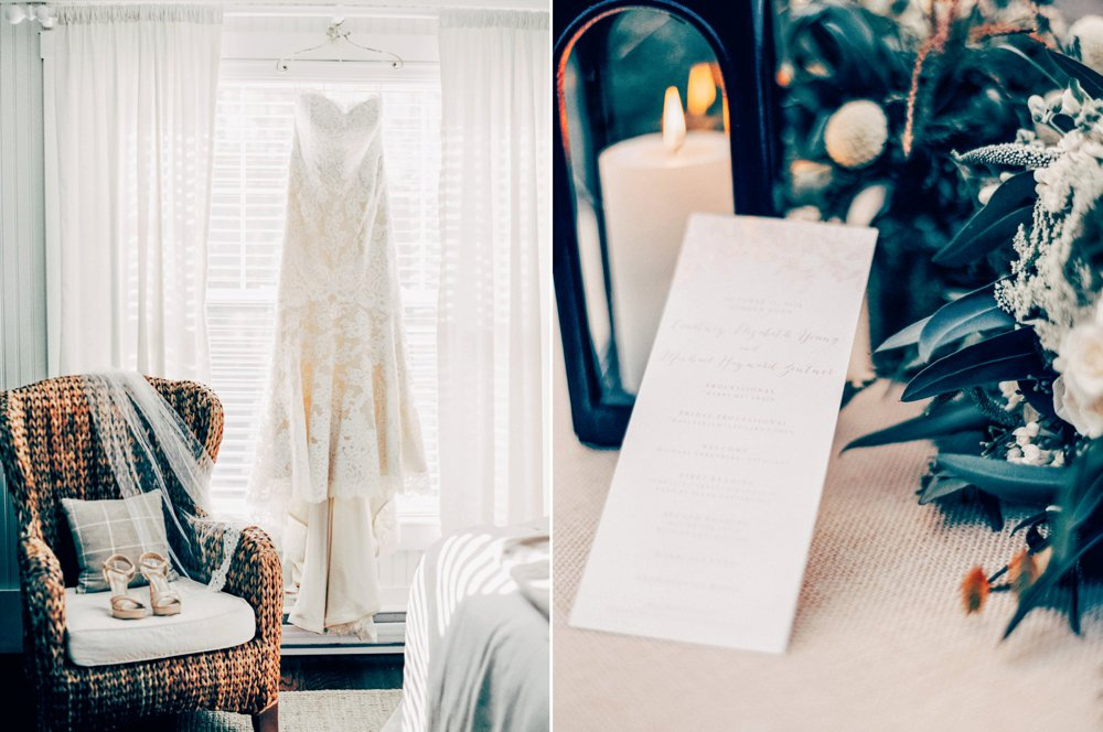 The lovely dress and invitation. Shot on a Contax 645 camera.