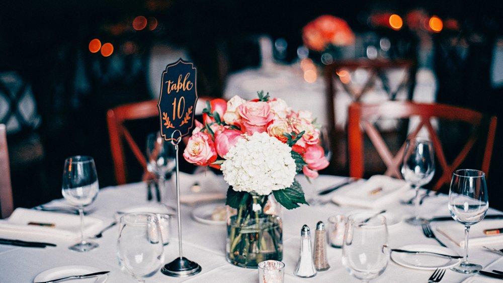 Woman's Club of Minneapolis wedding dinner