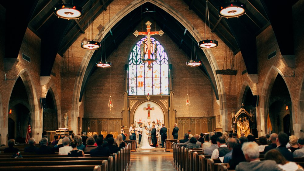 Holy Family Catholic Church wedding ceremony